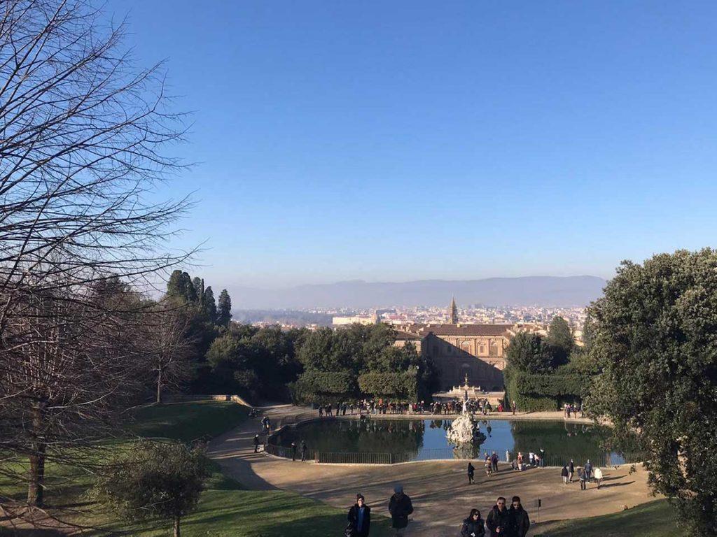 Bobli und Palazzo Pitti in Florenz