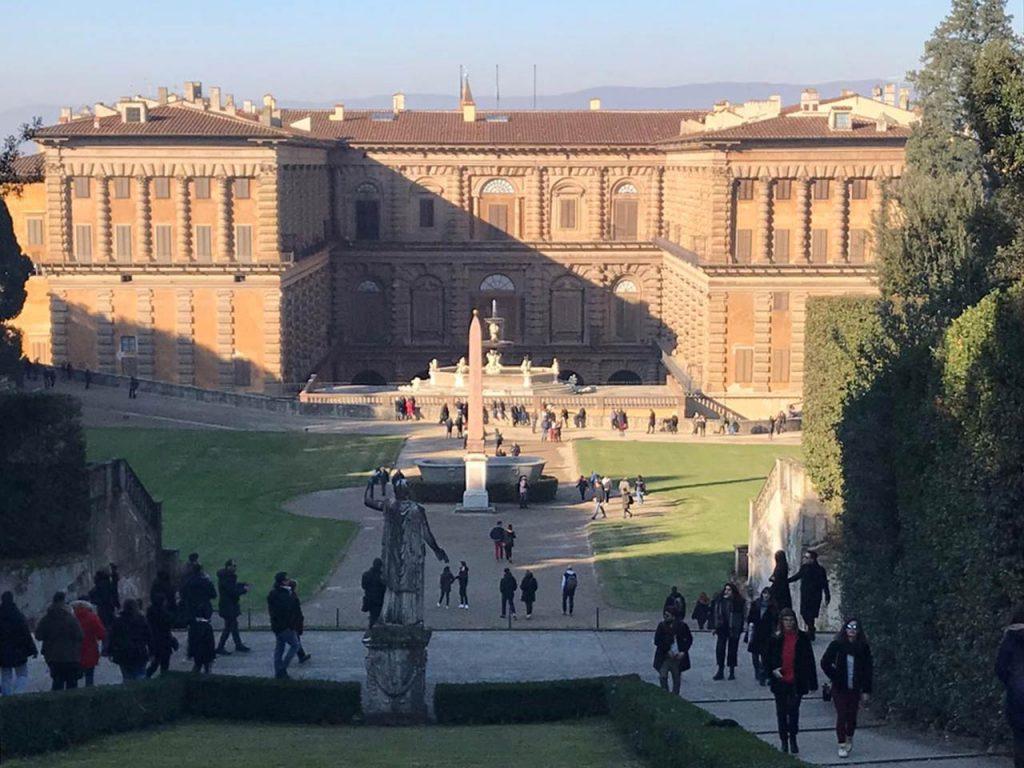 Palazzo Pitti und Bobolo Garten in Florenz