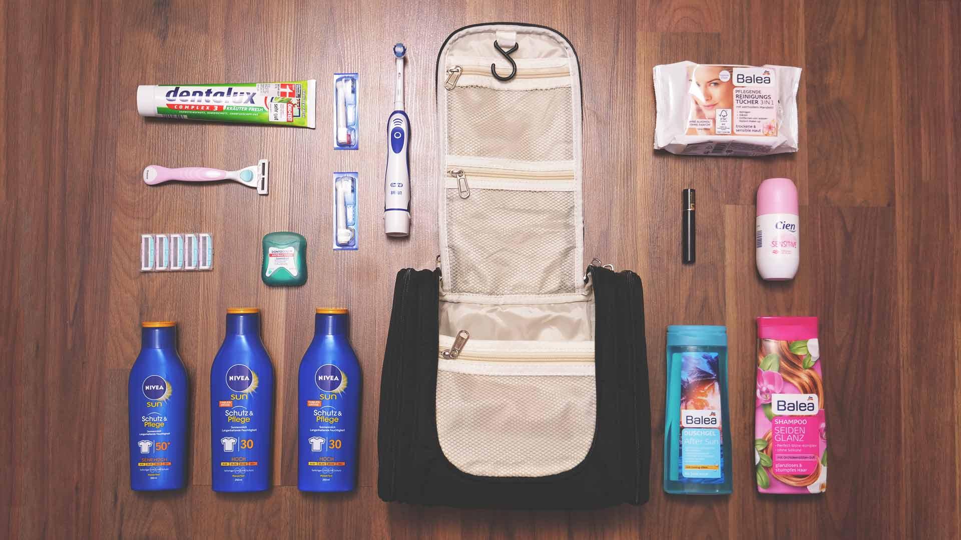 Backpacking Packliste Südostasien - Jasmins Kulturbeutel, Kulturtasche