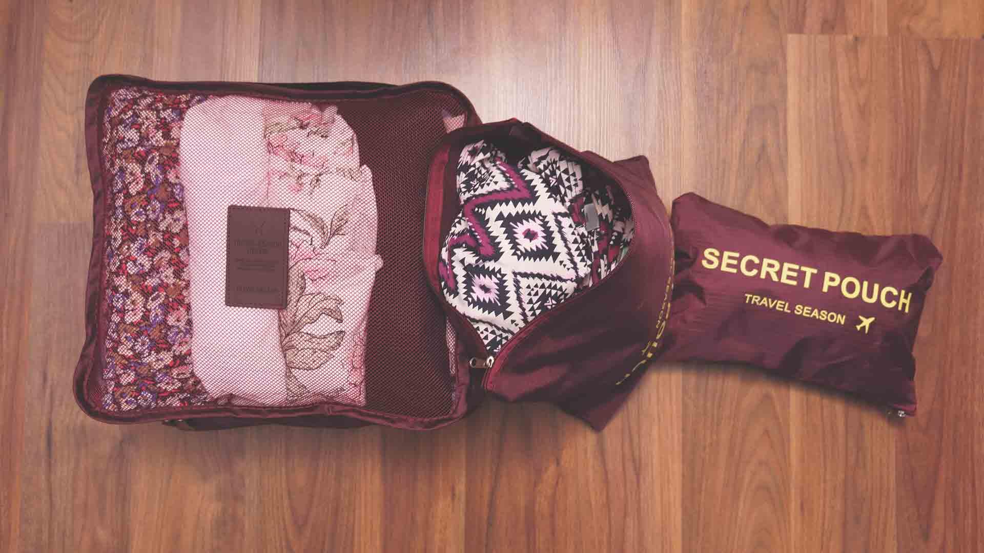 Backpacking Packliste Südostasien - Fertig gepackte Packtaschen, Packbeutel