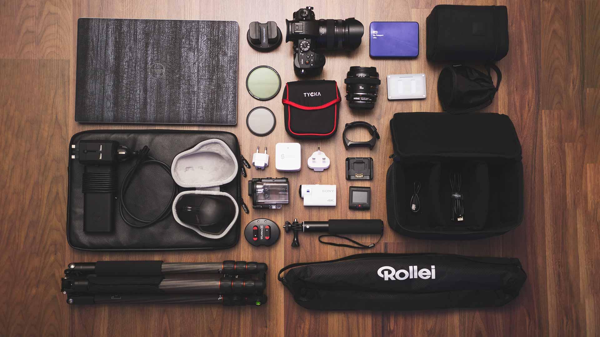 Backpacking Packliste Südostasien - Technik, Kamera, Objektive, Stativ, Action-Cam, internationale Ladegeräte und weiteres Zubehör