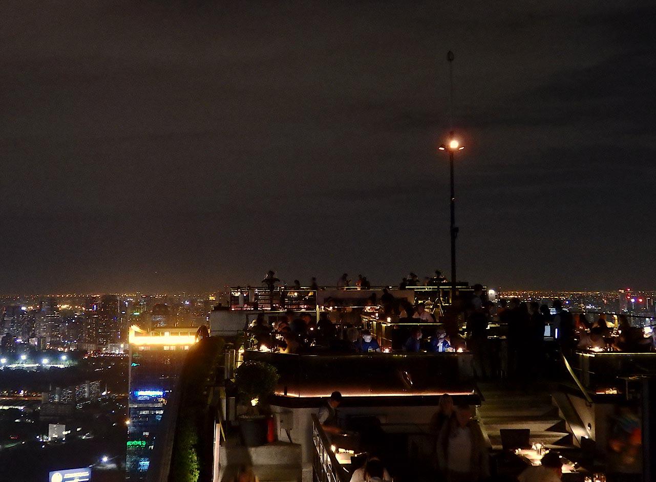 Aussicht von der Moonbar in Bangkok
