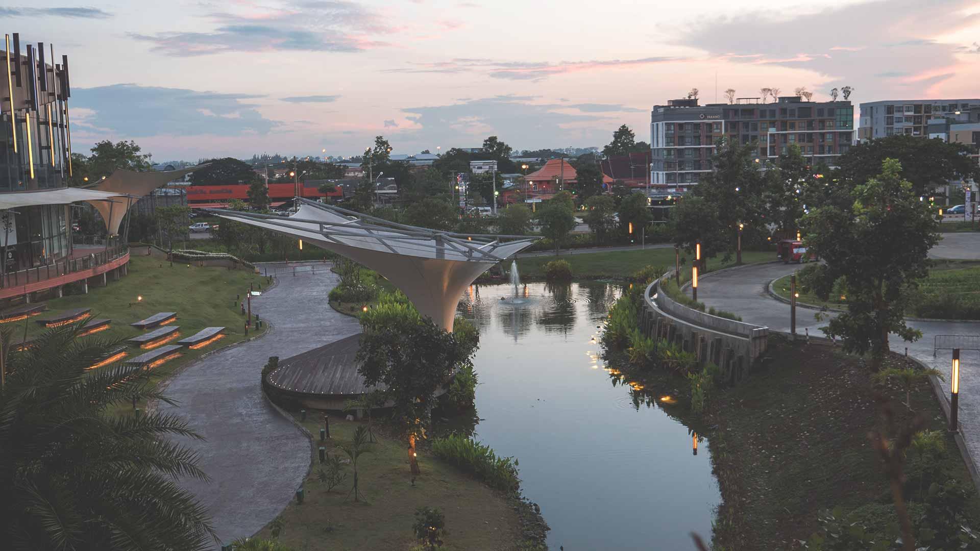 Chiang Mai Promenada außen Architektur