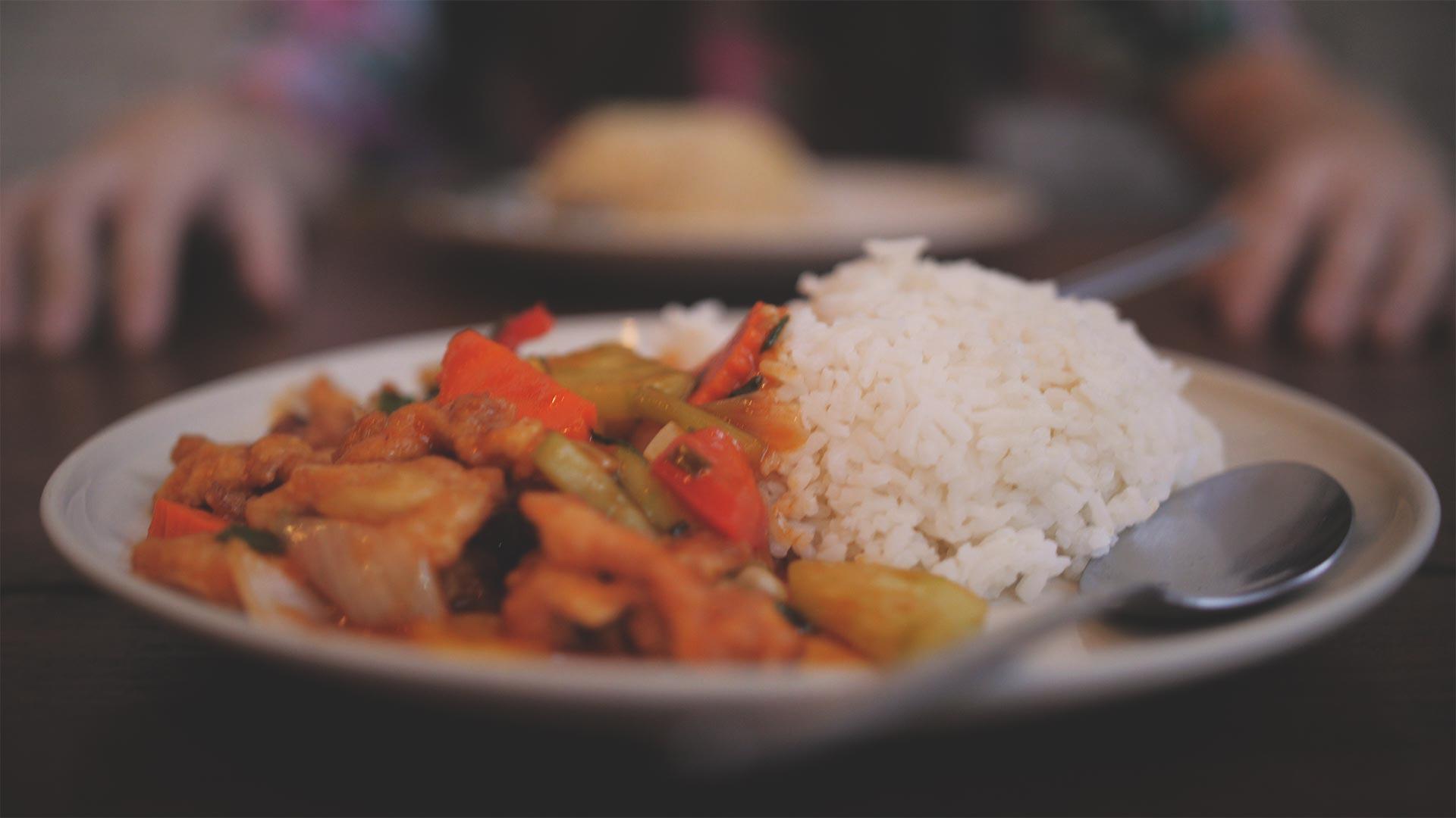 Chiang Mai - Thai-Food - Reis mit Hähnchen