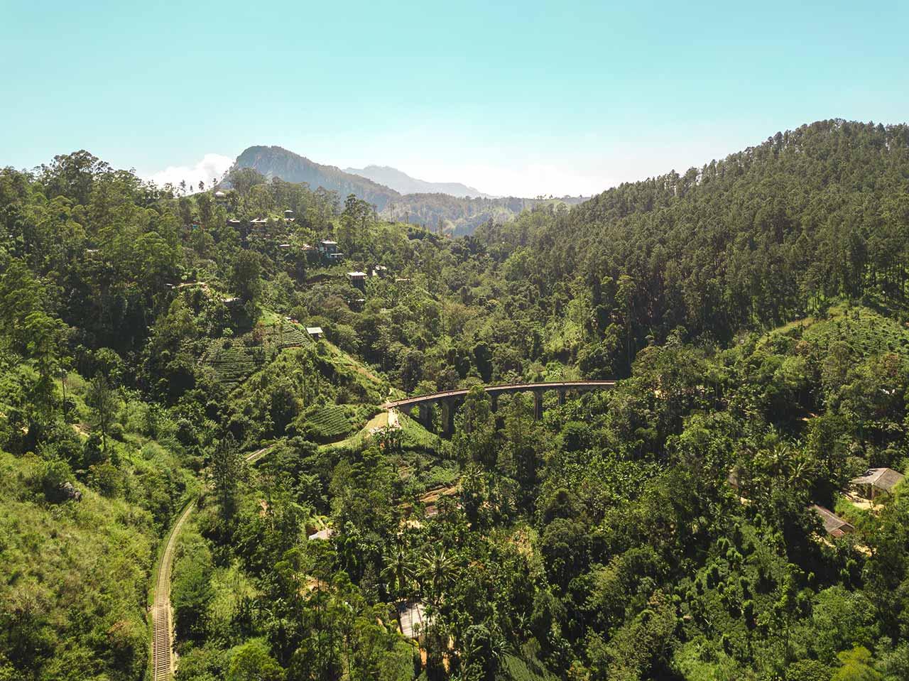 Nine Arch Bridge im Dschungel von Ella