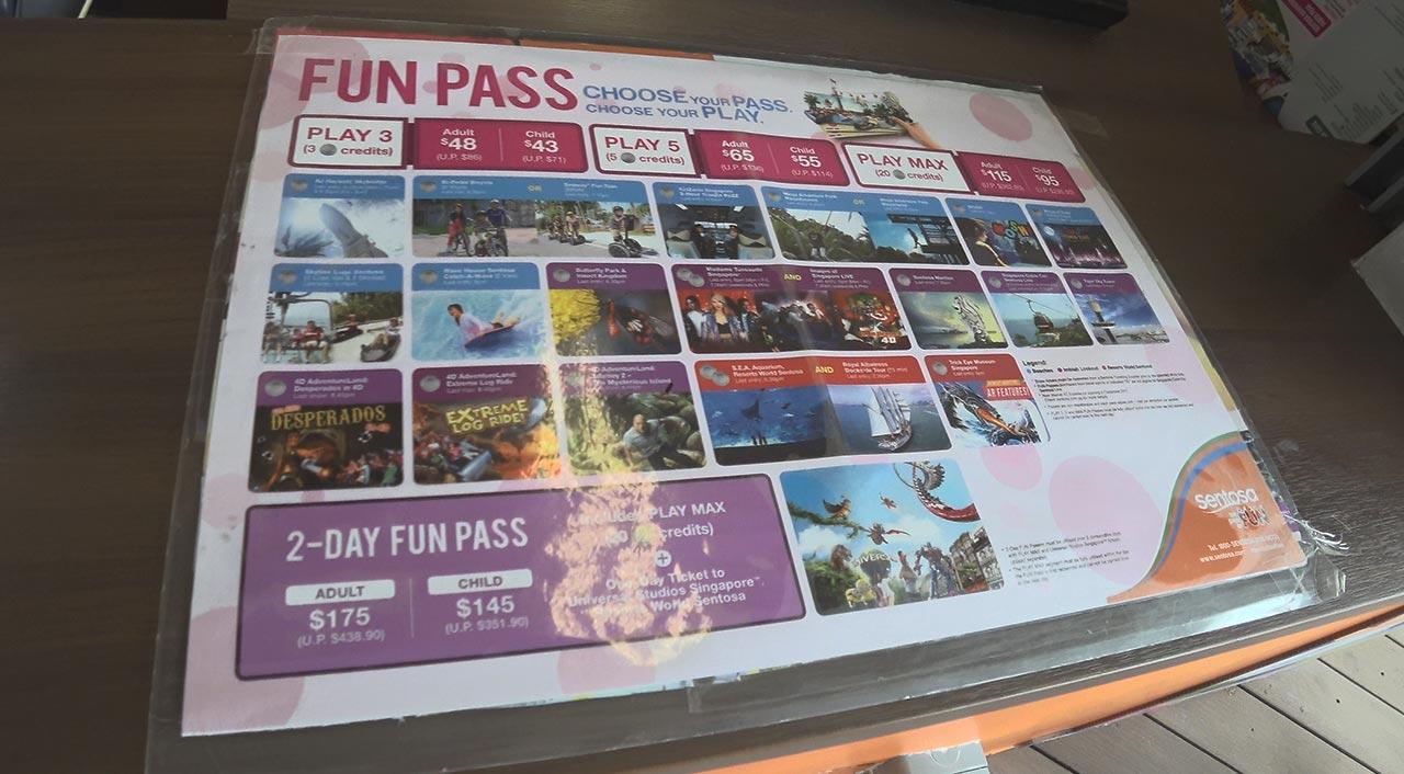 Funpass für die Freizeitinsel Sentosa in Singapur
