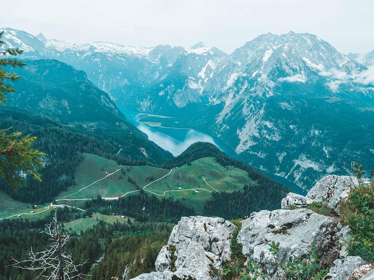 Aussicht auf den Königssee vom Jenner Aussichtspunkt