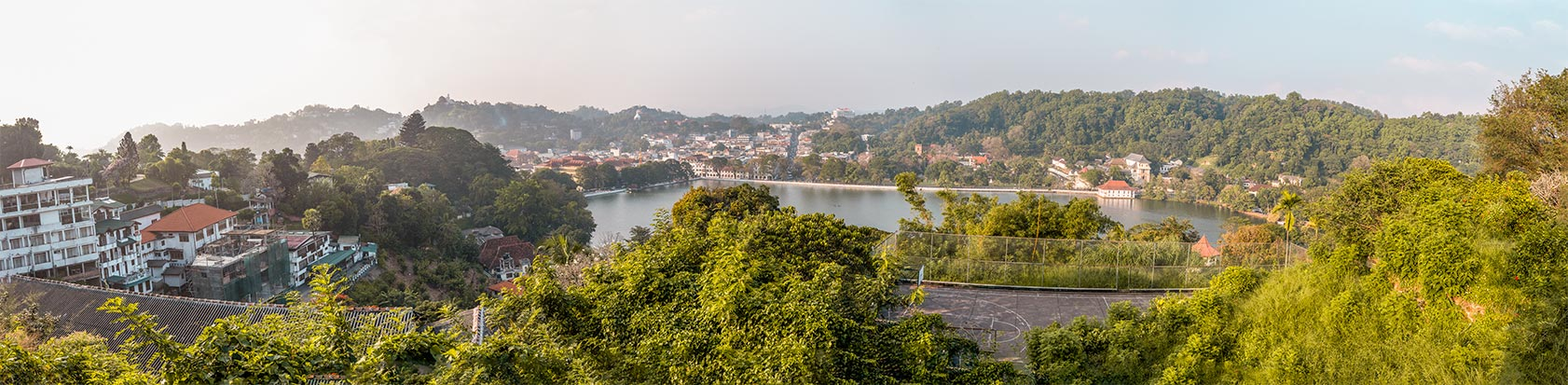 Panorama von Kandy in Sri Lanka