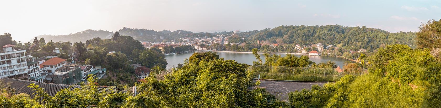 Panorama von Kandy in Sri Lanka