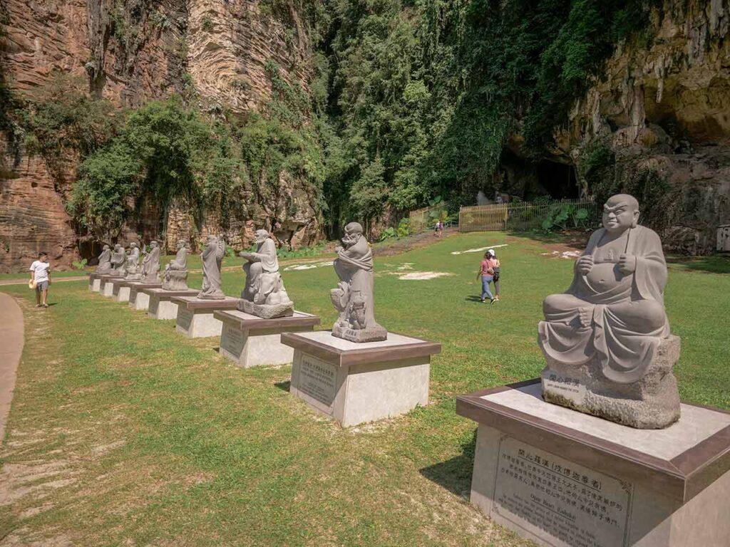 Kek Lok Tong Tempel in Ipoh: heilige Statuen