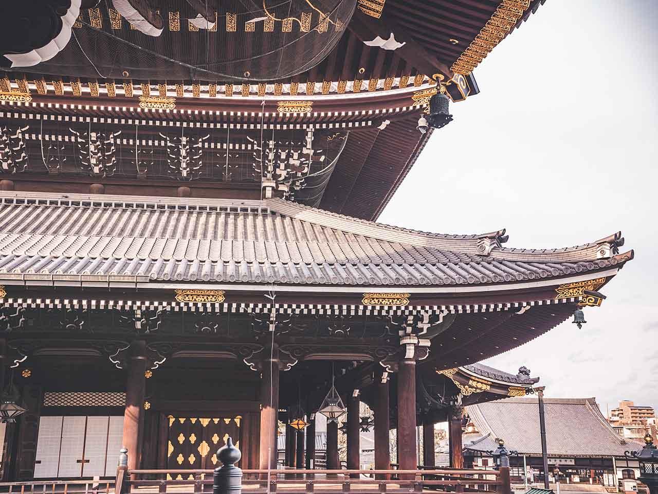 Hihashi Honganji Tempelanlage Nahaufnahme