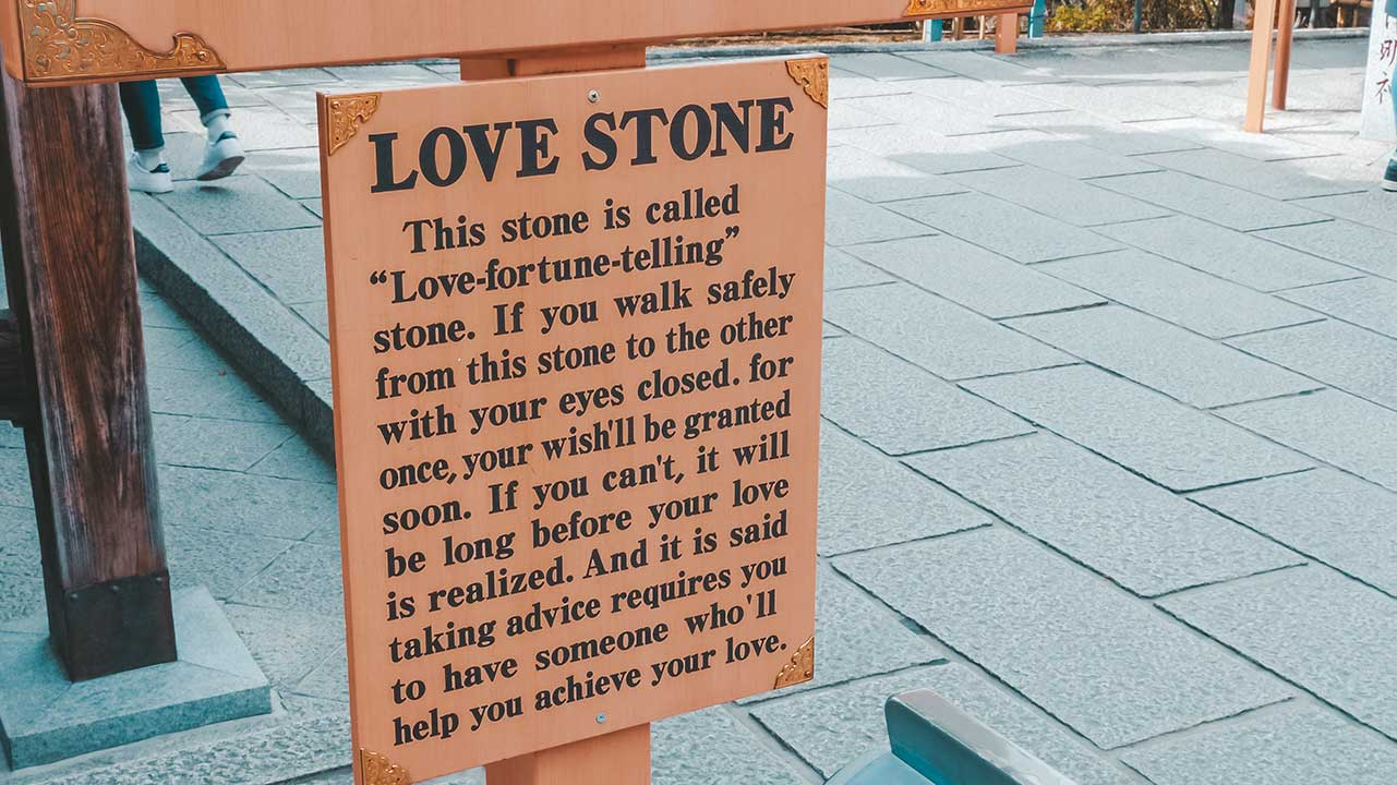 Love Stone im Kiyomizu Dera Tempel in Kyoto Japan