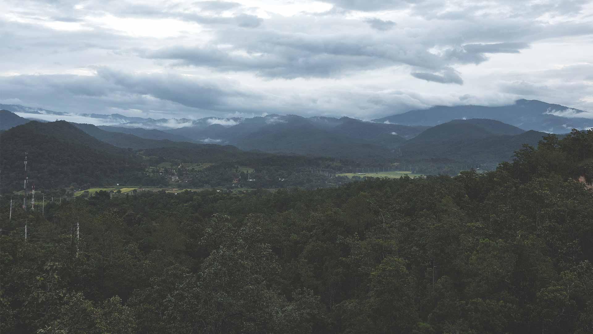 Pai Canyon Aussicht auf Landschaft und Gebirge