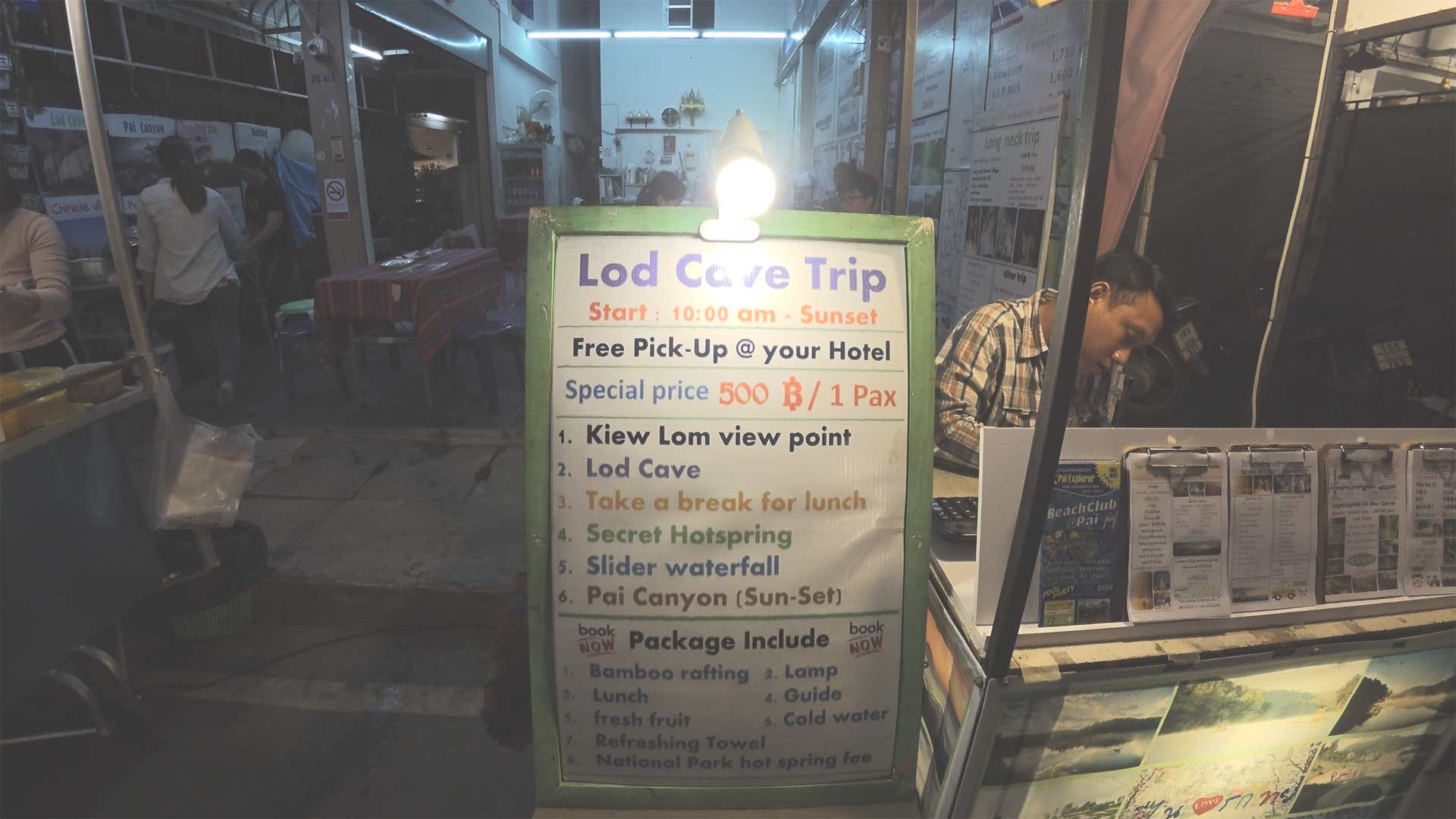Lod Cave Trip - Programm des Lod Cave Trips in Pai