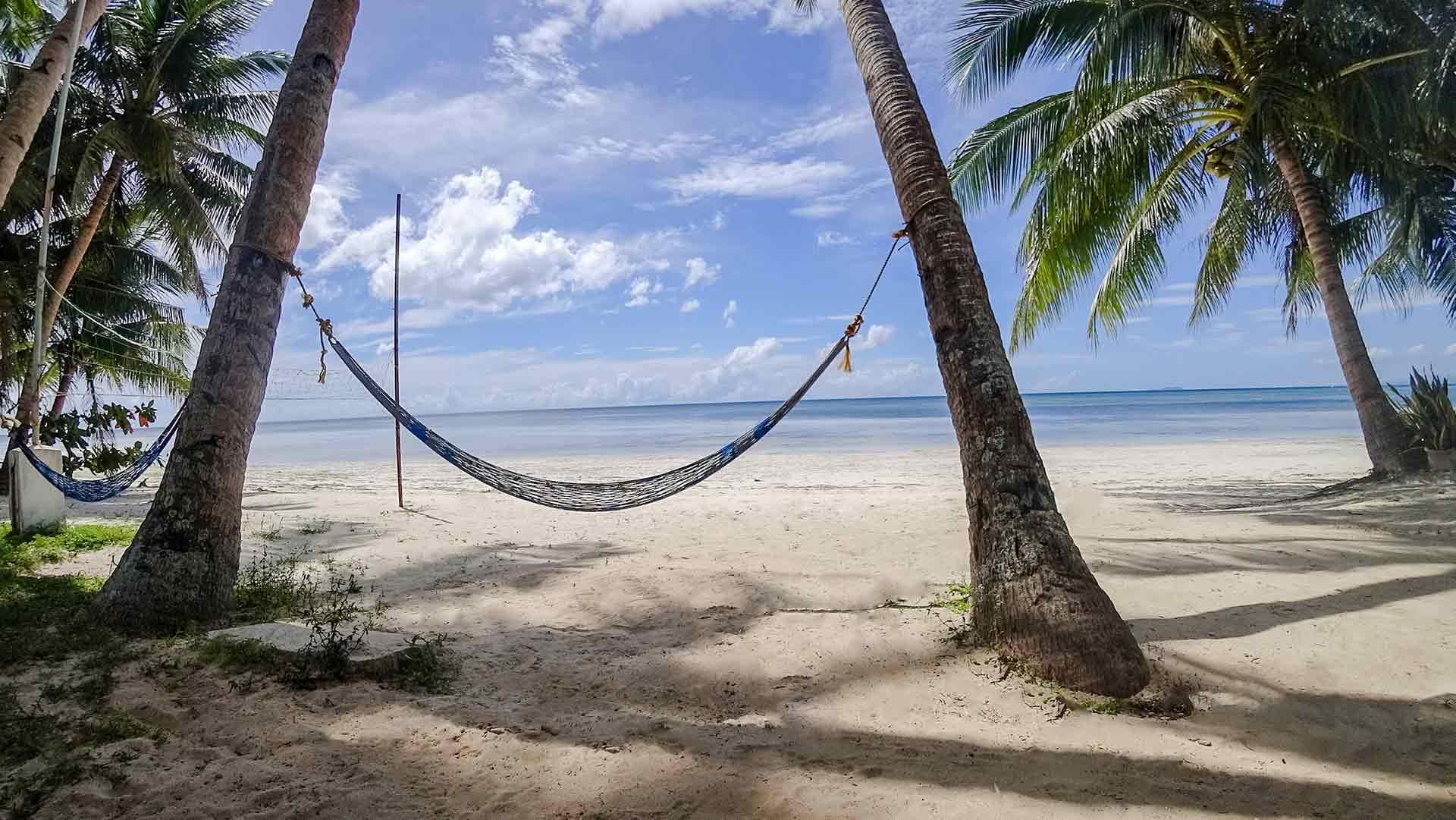 Philippinen: Hängematte zwischen zwei Palmen