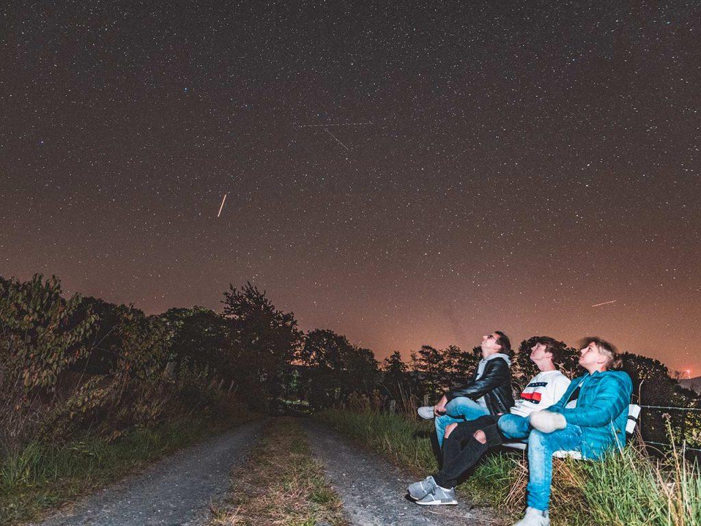 Internationaler Sternenpark Rhön: Sternenhimmel Langzeitbelichtung