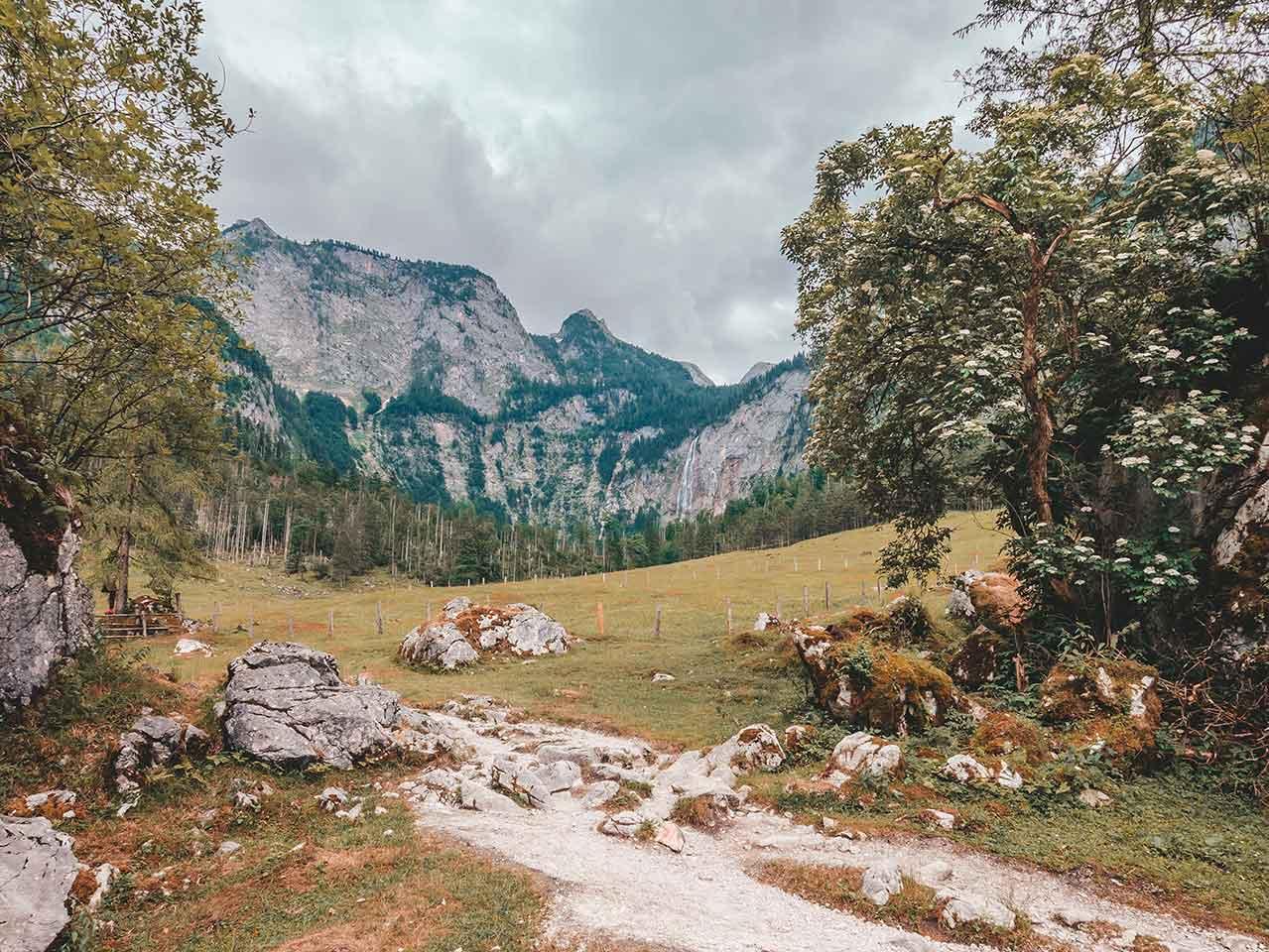 Aussicht auf den Röthbachfall vom Obersee