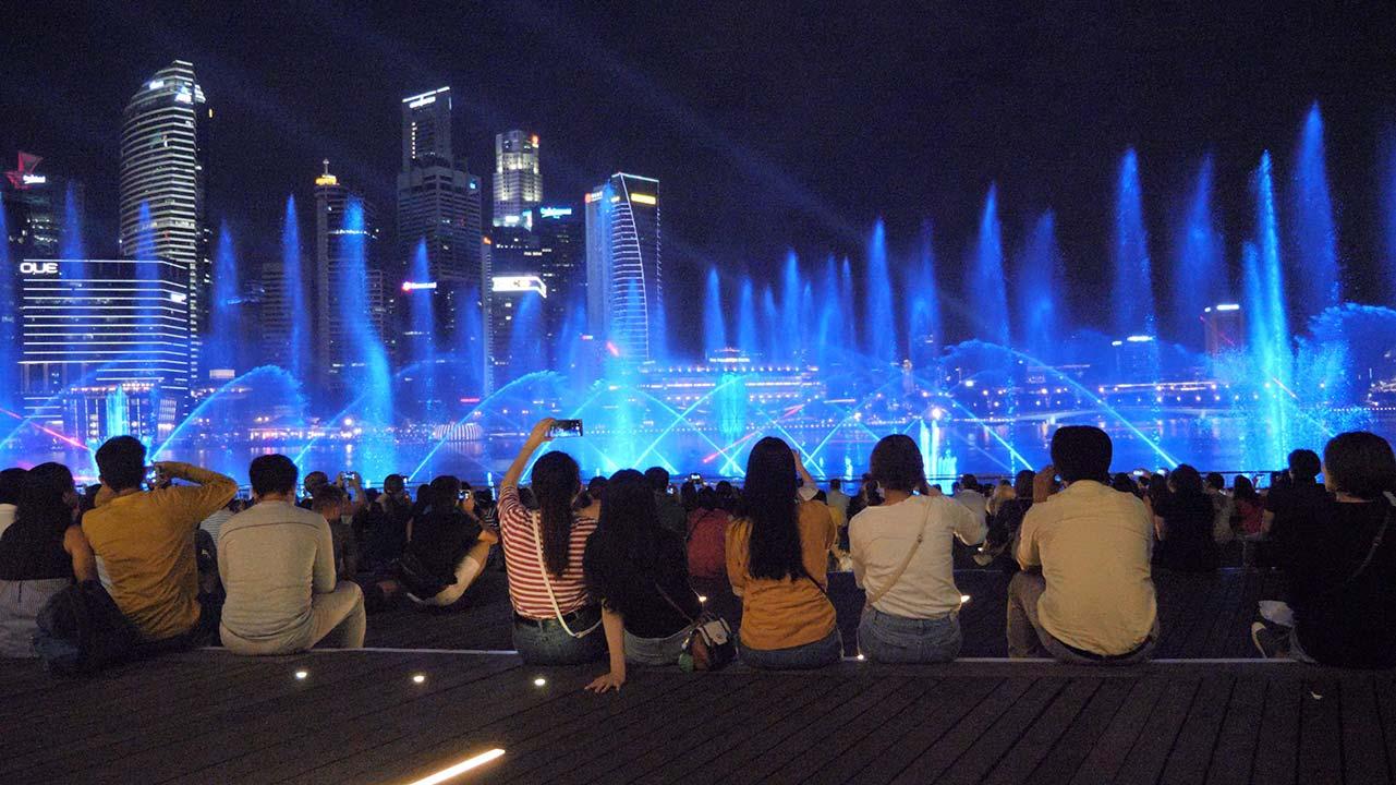 Singapur Spectra Lightshow