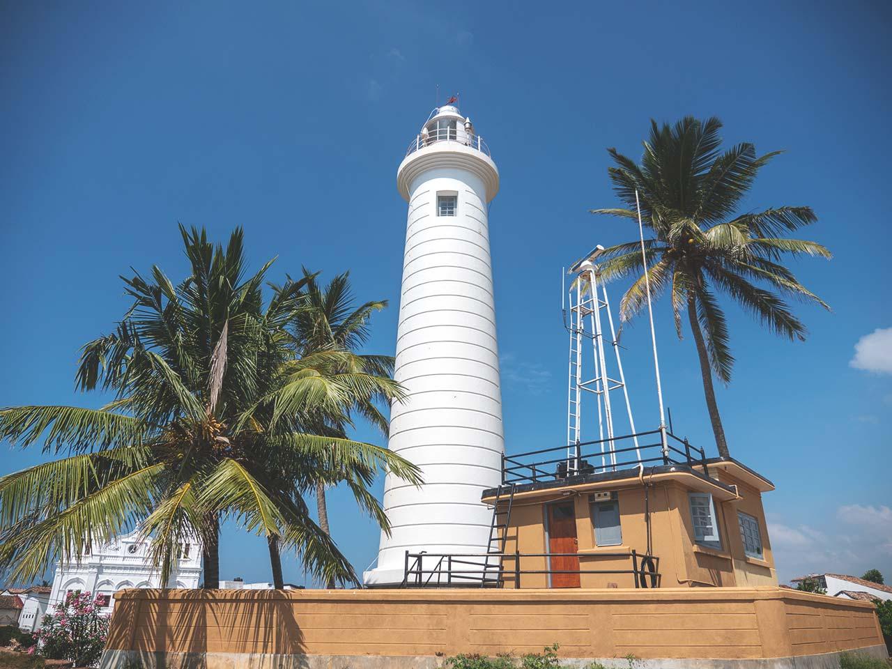 Leuchtturm beim Galle Fort in Sri Lanka