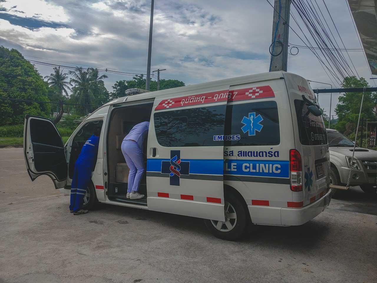 Krankenwagen in Koh Lanta, Thailand