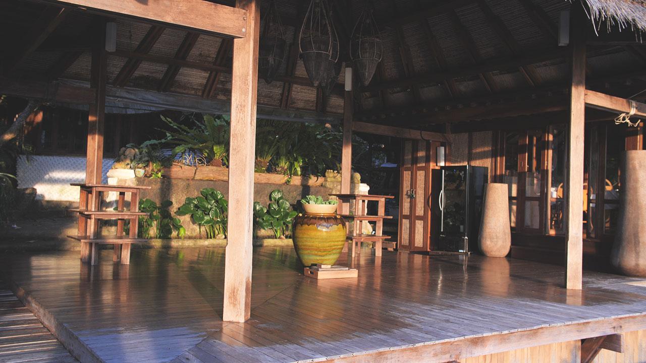Eingangsbereich im Thipwimarn Resort in Koh Tao