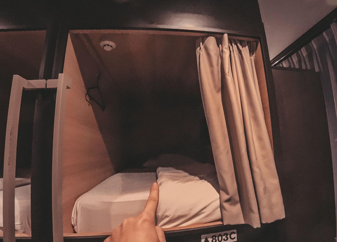 Emblem Hostel Nishiarai - Kapsel Hotel in Tokio Japan