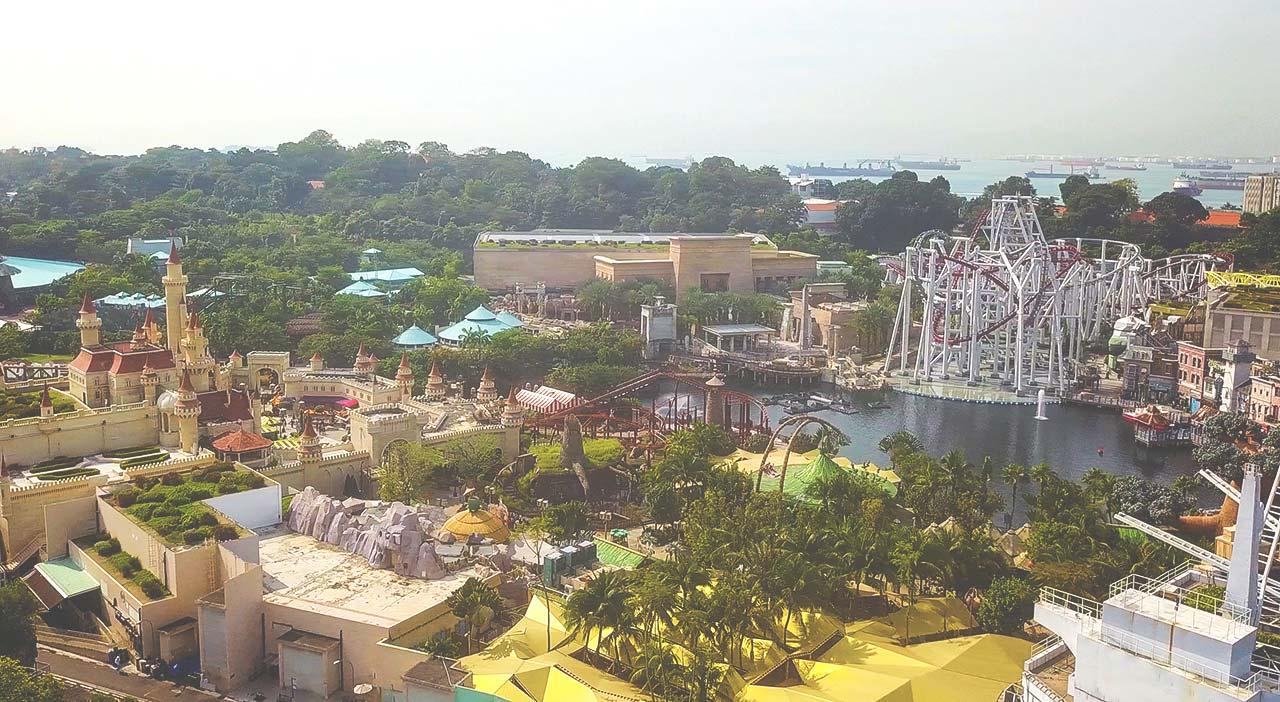 Universal Studios in Singapur - Far Far Away und Achterbahnen